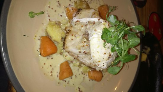 Berkeley Arms: Cod in a mustard sauce, excellent!