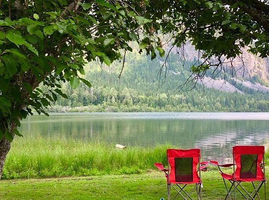 Nakusp, Canada: A view of the lake from site A