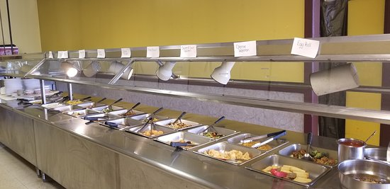 Columbiana, OH: Buffet area