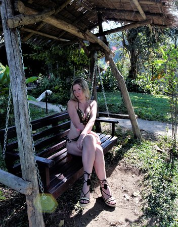 Bamboo Nest de Chiang Rai: RELAXING IN THE SUN IN THE BEAUTIFUL GARDENS OF BAMBOO NEST.  Strees free paradise