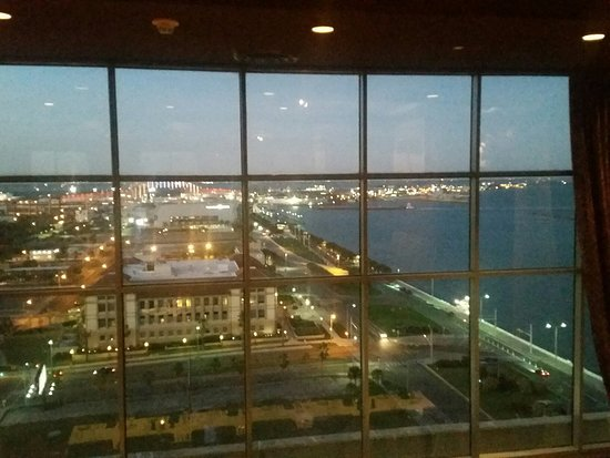 Republic of Texas Bar & Grill : View overlooking Corpus Christi Bay and the downtown area.
