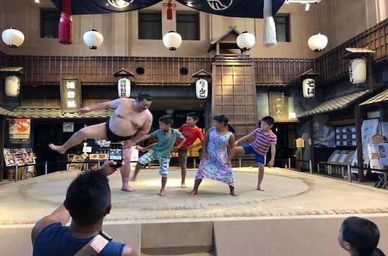 Worstelen met een Sumo-worstelaar op ...