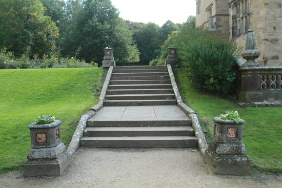 Padiham, UK: Gawthorpe Hall garden