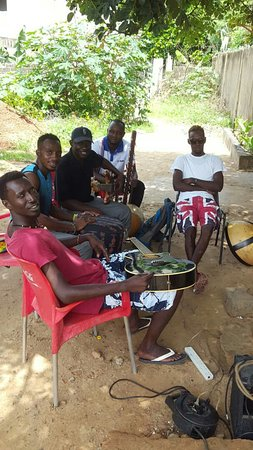 Brufut, Gambia: The Gambia -Koulimare Band offers great music played with natural instruments. Brilliant enterta