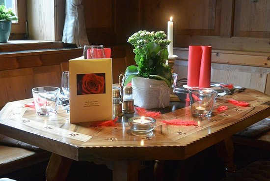 St Anton im Montafon, Αυστρία: Candle light dinner
