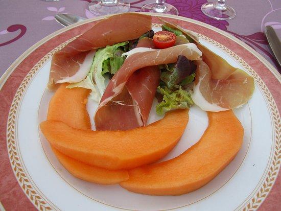 Ambialet, فرنسا: melon au jambon de pays