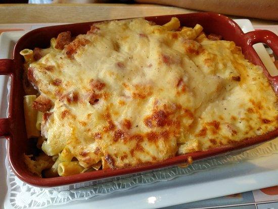 macaroni met ham en kaas - photo de cafe botteltje, ostende