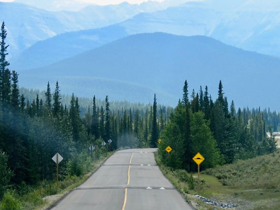 Bragg Creek, Canada : 3 of the 12 annoying speed humps on the access road
