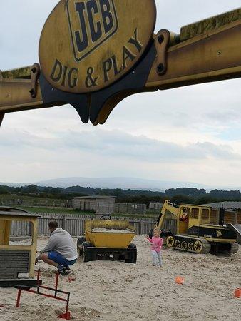 Crosby on Eden, UK: Digger/sand area