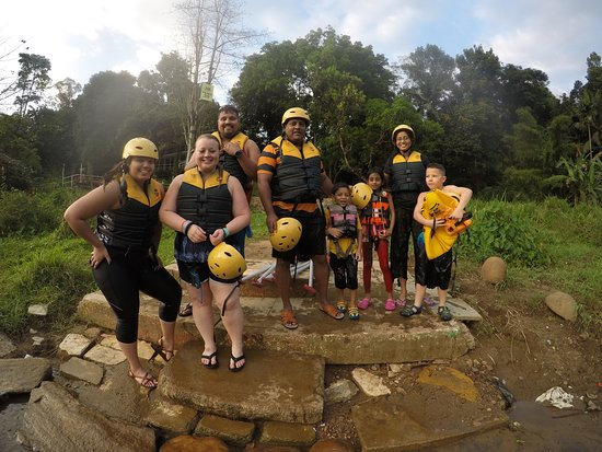 Rafting Team 39: After Completing the 5 Km Rafting Expedition with my Kids and Family