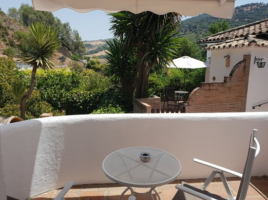 Molino del Santo: Room is on ground floor but a raised step and little wall gives privacy to our balcony