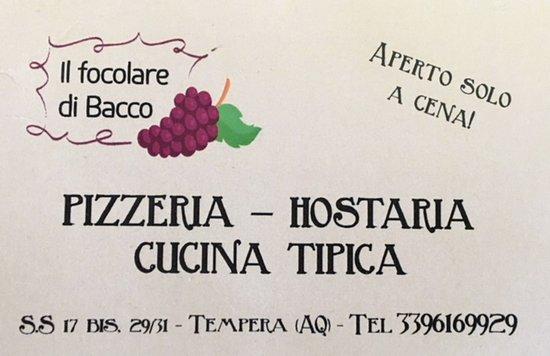Paganica, Italy: Attenzione, aperto solo a cena!!!