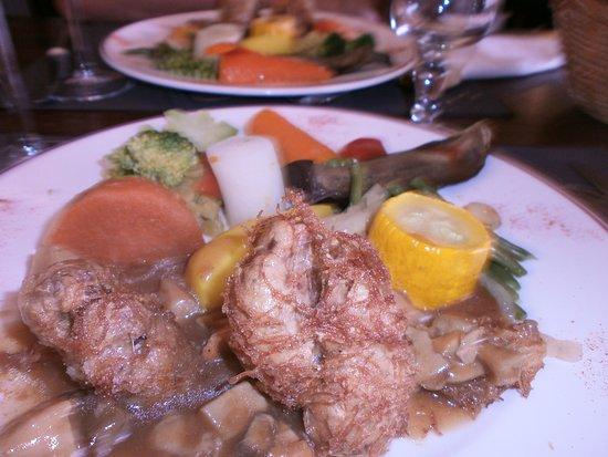 Auberge Chez Suzon : croustillants de ris de veau légumes frais