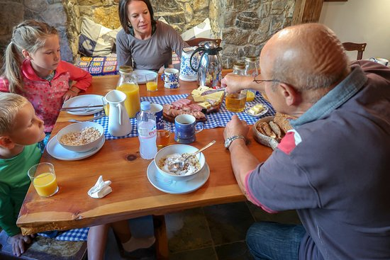 The Hayloft: Peter teaching my children about the different types of Cheese in Switzerland