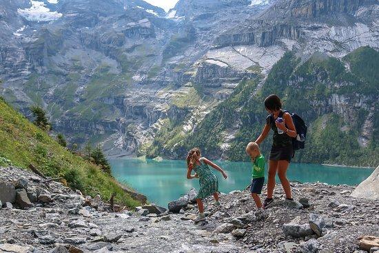 The Hayloft: Hike near Oeschinen Lake, close to property.