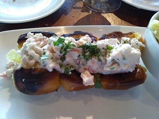 Amazing shrimp roll.