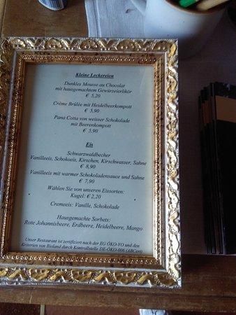 Tennenbronn, Allemagne : Menù dolci