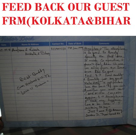 FEED BACK FROM OUR GUEST FROM (KOLKATA & BIHAR)