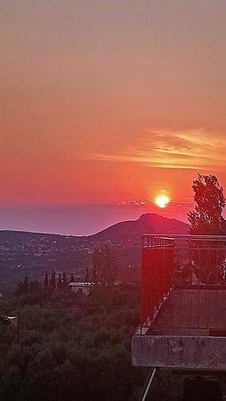 View from the balcony at Captain Zorbas restaurant, Lourdas, Kefalonia