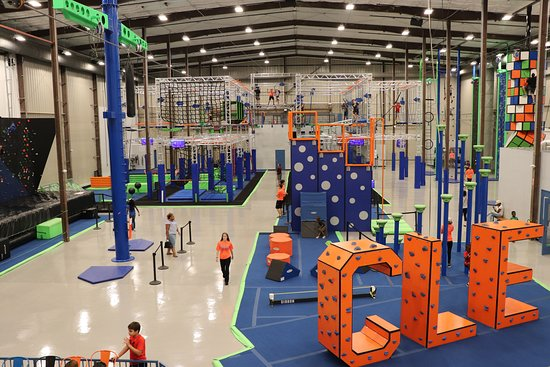 Avon, OH: Indoor Adventure Park with a zipline, ropes courses, ninja warrior courses, rock climbing and mo