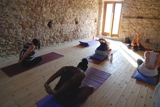 Pescosolido, Italien: Afternoon yoga