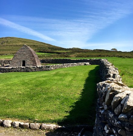 Gallarus Oratory: The Oratory itself is hard to see from far away