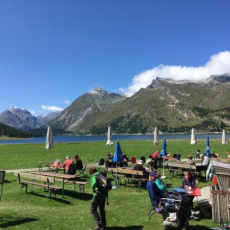 Maloja, Ελβετία: Terrace view
