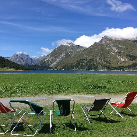 Maloja, Szwajcaria: Terrace view
