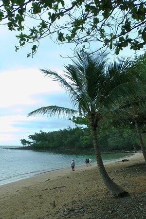 Anahola Beach Park: Anahola Beach - pretty deserted on our visit