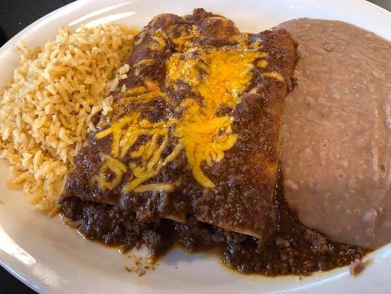 Jonestown, TX: Taco Beef Enchiladas with Tex Mex sauce