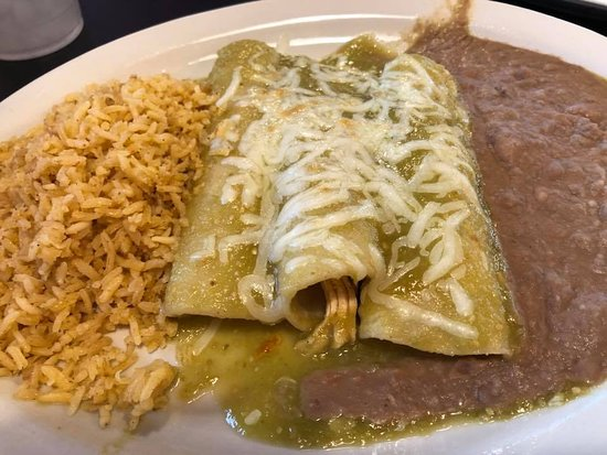 Jonestown, TX: Chicken Enchiladas with Verde sauce