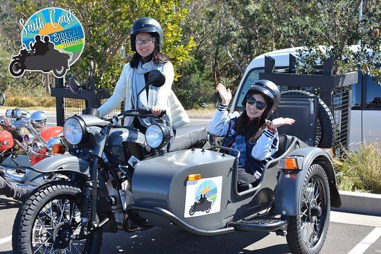 Sidecar fun on the 2018 Corroborree Familiarisation day along Wollongong's spectacular coast lin