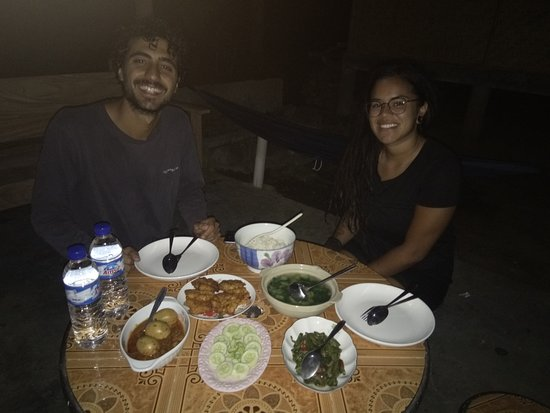 Sarongan, Indonesia: Time to dinner with local foods menu