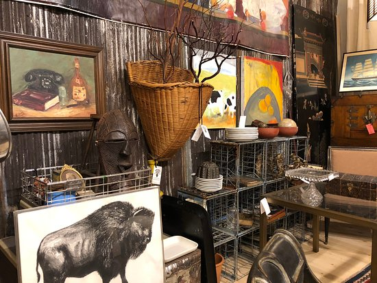 Chelsea Antiques: Mixed media vignette featuring a rustic background with painted still lifes layered on top