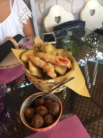 Gallinaro, Italia: verdure fritte