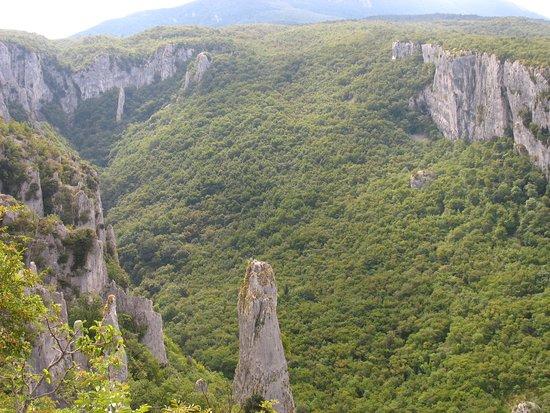 Ucka Nature Park, Croazia: Le Canyon au pied de Ucka