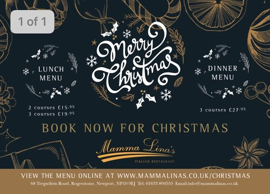 Rogerstone, UK: Christmas 2018 in Mamma Lina's
