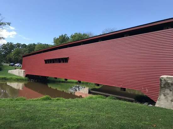 Gilpin's Falls Covered Bridge: Gilpins Covered Bridge side view 2