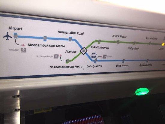 Metro Chennai - Beggining Route Map - For Full Map Google Metro ...