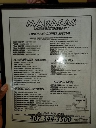 Maracas Restaurant: Maracas Restaurant