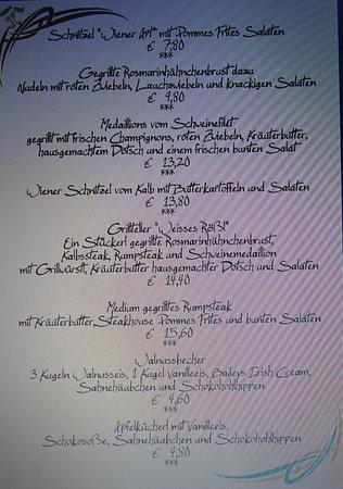 Neustadt an der Waldnaab, Deutschland: Speisekarte