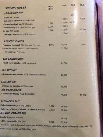 carte des vins paul bocuse sole meunière faite par M PAUL BOCUSE   Picture of La maison du