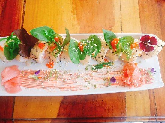 Koi fish sushi roll