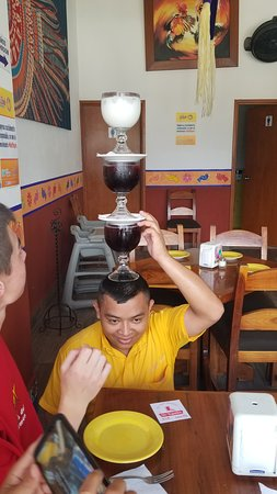 La Parrilla: I'd be wearing those drinks... but Alberto is amazing!
