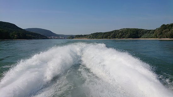 Twin City Liner: Es geht sehr schnell über die Donau