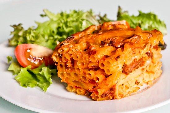 Aberchirder, UK: Baked macaroni