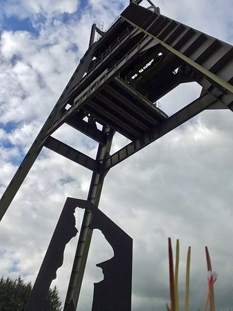 Auchinleck, UK: The A-Frame and miner's silhouette