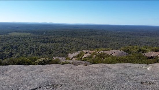 Denmark, Australia: Looking west from the top of Mount Lindesay W.A