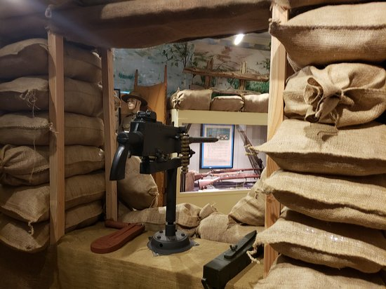 Ticonderoga Historical Society: WWI tench exhibit in the 2nd floor