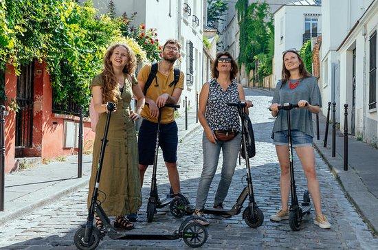 Privat elektrisk scooter ride gennem...